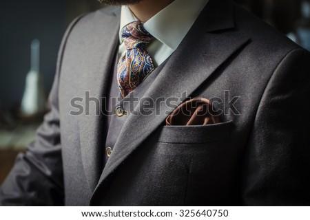 men suit Royalty-Free Stock Photo #325640750