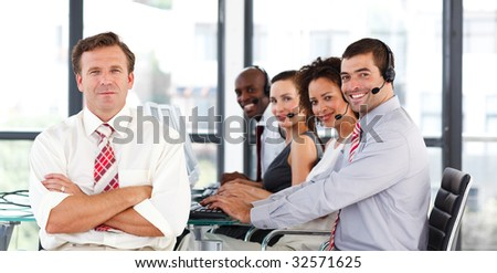 International business people working in a call center #32571625