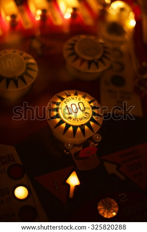 Abstract pinball background  Royalty-Free Stock Photo #325820288