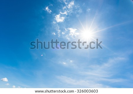 Sun, blue sky #326003603