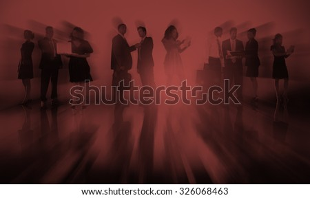 Business People New York Outdoor Meeting Concept #326068463