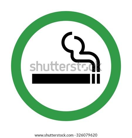 Smoking Area Sign . Vector illustration Royalty-Free Stock Photo #326079620