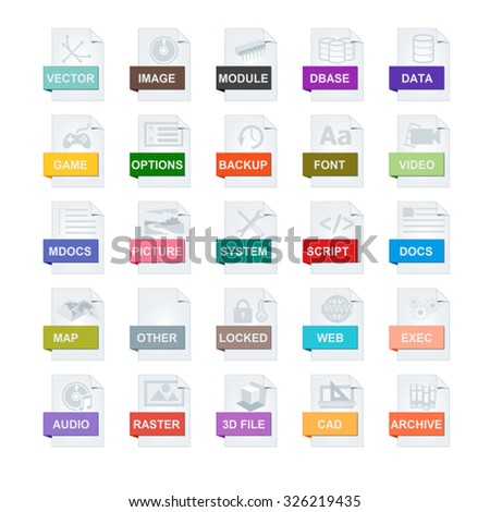 file types icons #326219435