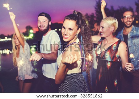 Diverse Ethnic Friendship Party Leisure Happiness Concept #326551862
