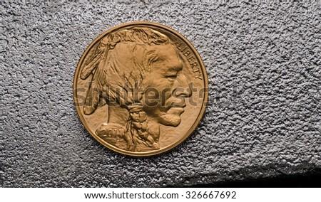 Us Gold Buffalo on Silver Bar #326667692