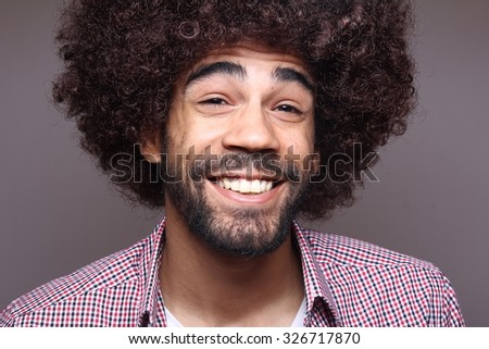 Funky afro man #326717870