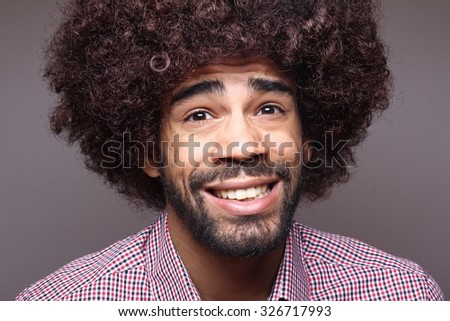 Funky afro man #326717993