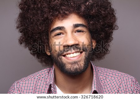 Funky afro man #326718620