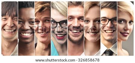 Happy people's portraits #326858678