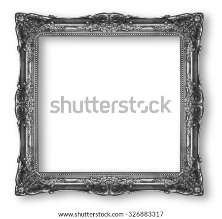 Picture  Frames  Silver  black  isolated on white background.