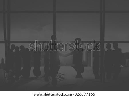 Businessmen Handshake Deal Business Commitment Concept #326897165