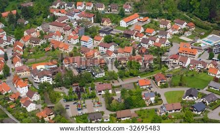 Top view of the town of Liechtenstein #32695483