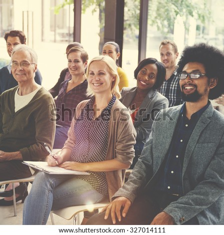Multiethnic Group Seminar Training Boardroom Concept #327014111