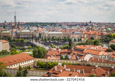 Historical church in Prague, Czech Republic, Europe #327041456
