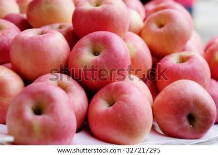 Red apples, fresh fruit #327217295