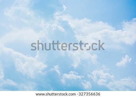 Clouds in the field #327356636