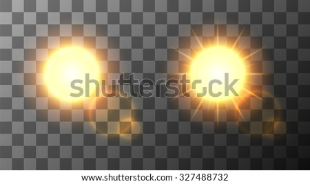 Vector modern sun set on sample background. sunshine design. 3 May International Day of the Sun. Eps10