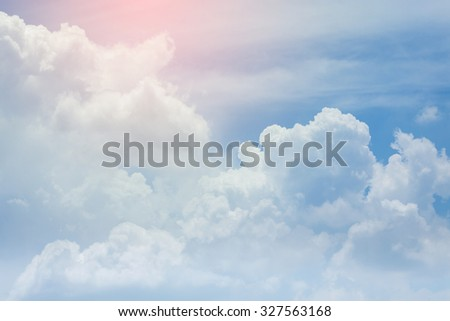 cloud on the sky background, cloudy weather with sunlight #327563168