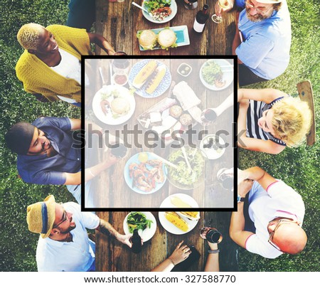 Summer Togetherness Friendship Square Copy Space Concept #327588770