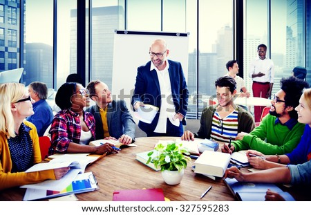 Business People Conference Meeting Seminar Team Teamwork Concept #327595283