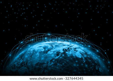 Best Internet Concept of global business from concepts series. Elements of this image furnished by NASA #327644345