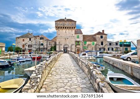 Historic architecture of Kastel Gomilica, Split, Croatia Royalty-Free Stock Photo #327691364