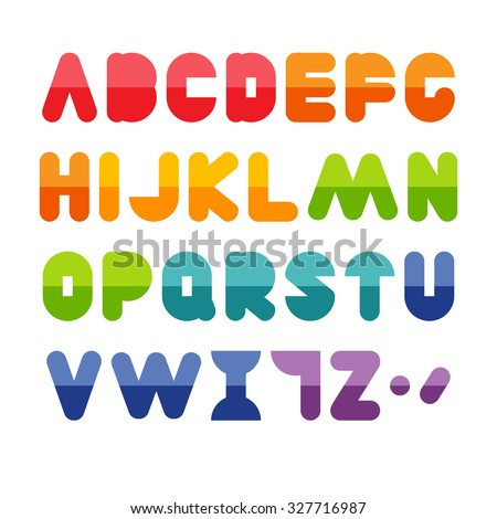 Colorful alphabet set #327716987