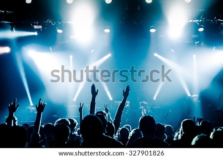 Hand fans during a concert #327901826