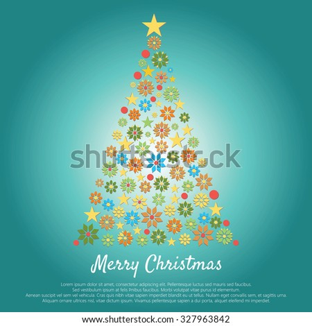 Merry Christmas. the background with Christmas tree #327963842