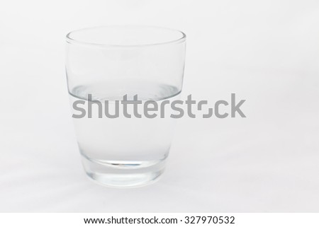 glass half full with copy space #327970532