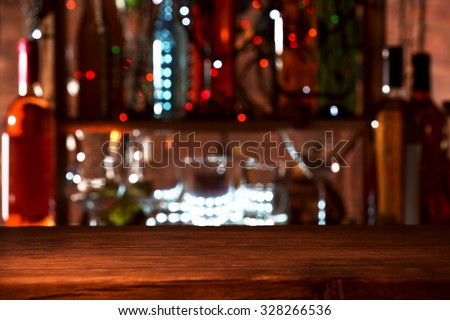 Glass of cocktail on the bar counter #328266536