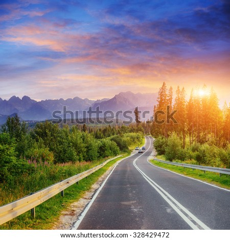 road in mountains #328429472