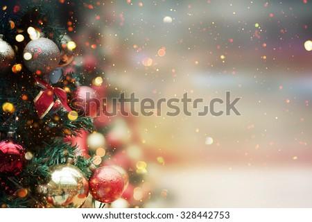 Christmas tree background Royalty-Free Stock Photo #328442753