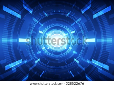 abstract vector engineering technology background, illustration #328522676