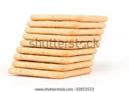 crackers isolated on white background #32853553