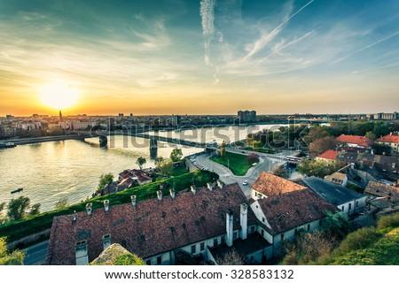 Cityscape from of Novi Sad. Horizontal image. #328583132