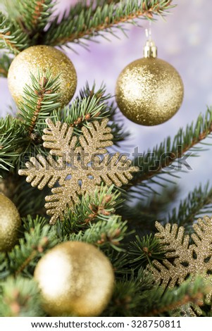Christmas tree, greeting card. Decoration. #328750811