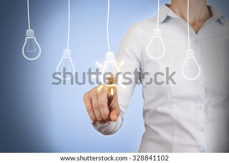 Idea Bulb Conceptual on Screen #328841102