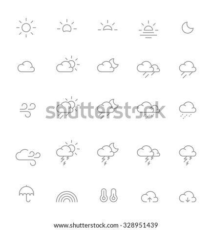 Thin Weather Icons #328951439