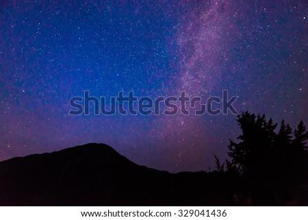 Milky Way over Diablo lake in North Cascade national park,Wa,Usa