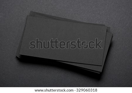 real photo of blank business cards