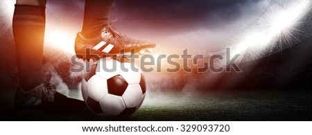 Soccer concept Royalty-Free Stock Photo #329093720