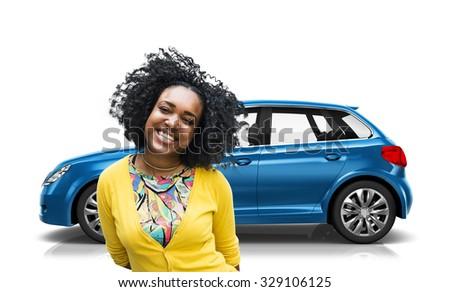 Car Vehicle Hatchback Transportation 3D Illustration Concept #329106125