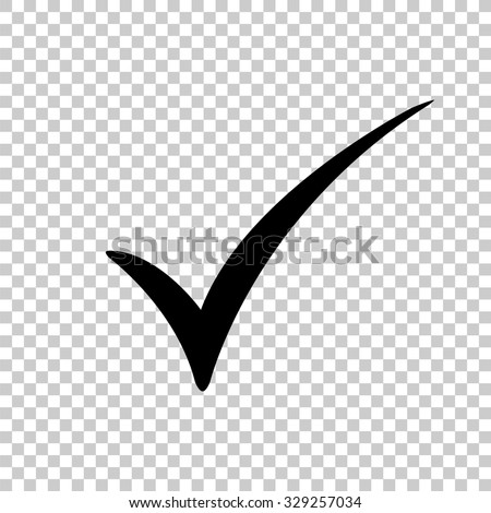 check mark vector icon - black illustration