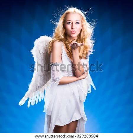 attractive blonde angel #329288504