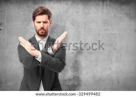 angry businessman stop gesture #329499482