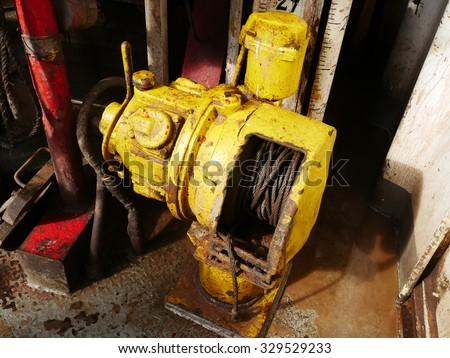 Old Air Winch (Air Tugger) On the Rig Floor â?? Oil Field Equipment #329529233