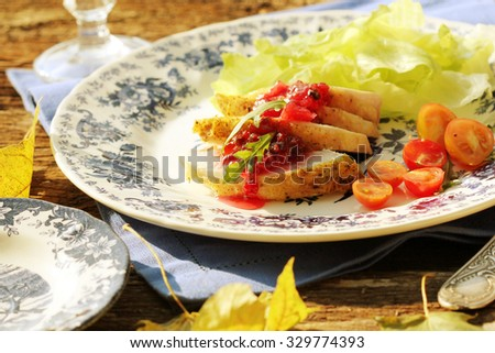 roasted chicken breast with lingonberries jam #329774393