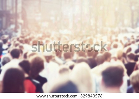 Crowd of people Royalty-Free Stock Photo #329840576
