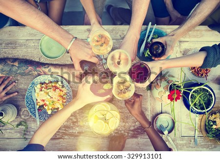 Food Table Healthy Delicious Organic Meal Concept #329913101